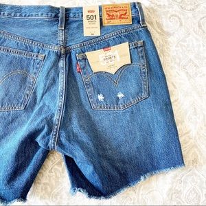 LEVI'S 501 Shorts Button Fly Jean Denim 30 NWT